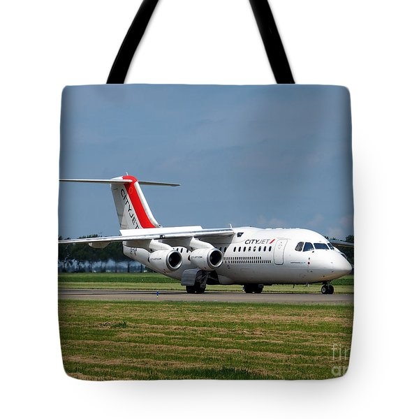 Cityjet British Aerospace Avro Rj85 Tote Bag by Paul Fearn