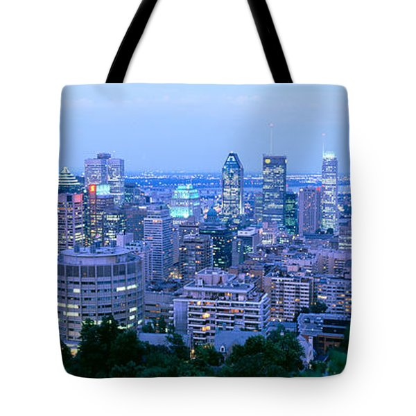 Cityscape At Dusk, Montreal, Quebec Tote Bag
