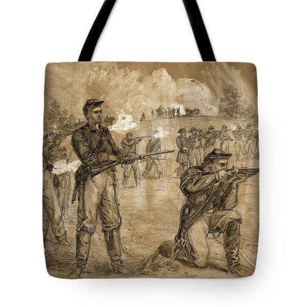 Civil War Skirmish, 1863 Tote Bag