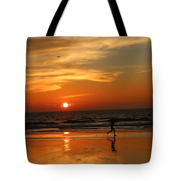 Clam Digging At Sunset - 3 Tote Bag