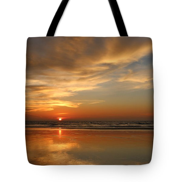 Clam Digging At Sunset - 4 Tote Bag