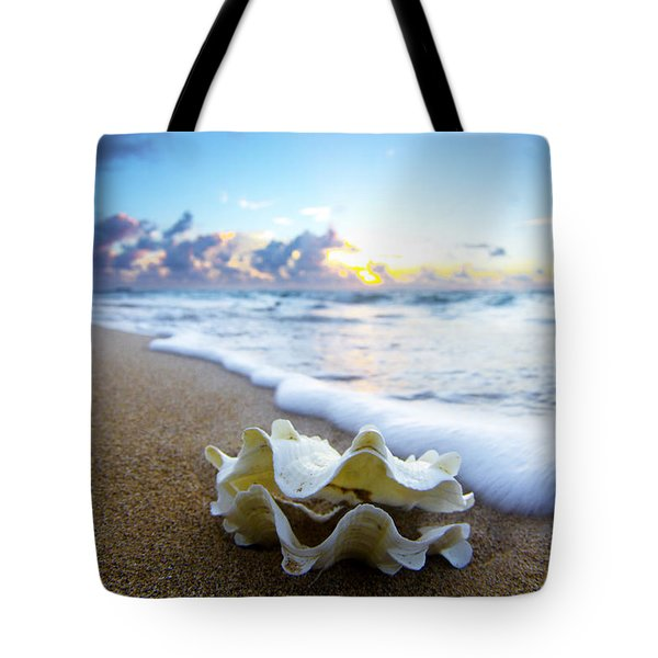 Clam Foam Tote Bag by Sean Davey