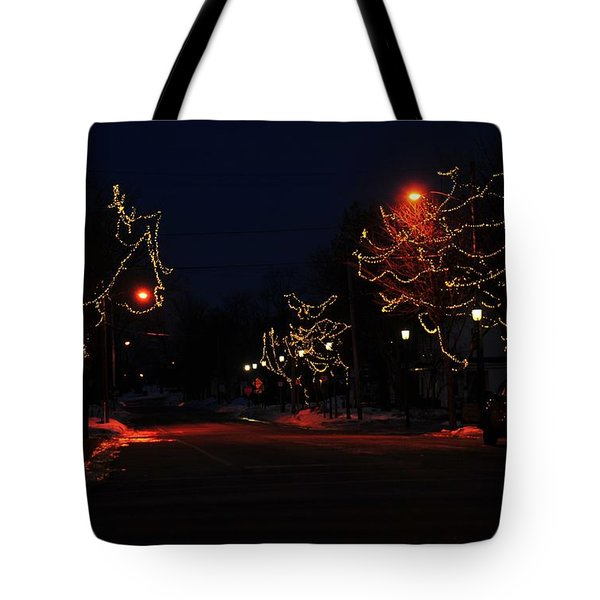 Clare Michigan At Christmas 12 Tote Bag