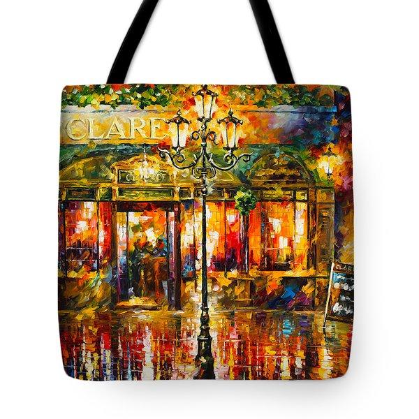 Clarens Misty Cafe Tote Bag by Leonid Afremov