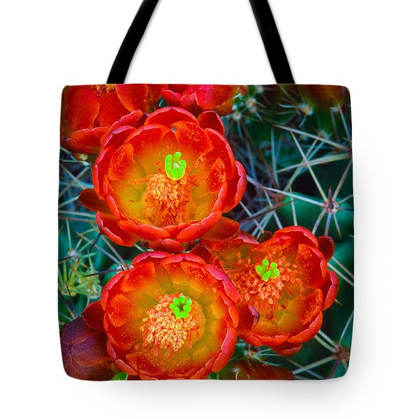 Claret Cup Tote Bag by Inge Johnsson