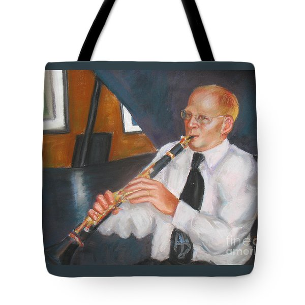 Clarinet At Palm Court Tote Bag