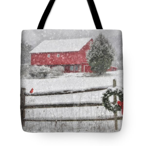 Clarks Valley Christmas 2 Tote Bag by Lori Deiter