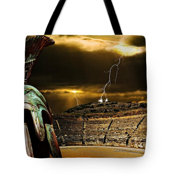 Tote Bag featuring the photograph Clash Of The Titans by Meirion Matthias