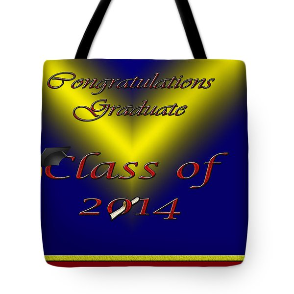 Class Of 2014 Card Tote Bag