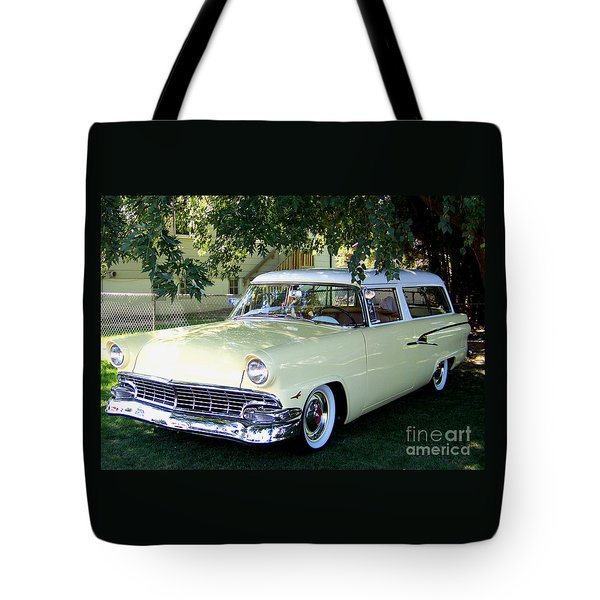 Classic 1956 Ford Ranch Wagon Tote Bag
