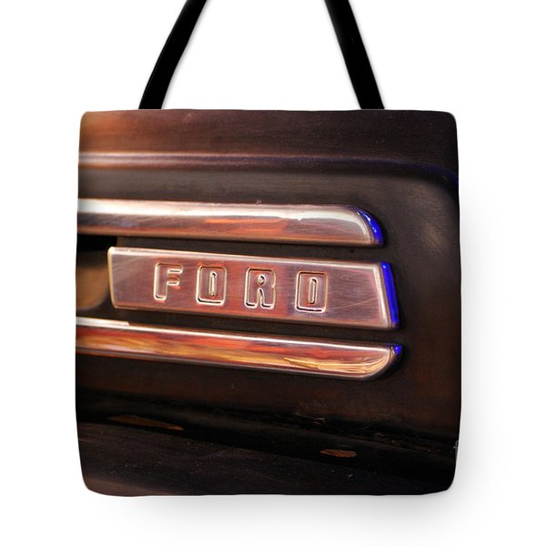 Classic Americana Retro Ford Truck Logo Tote Bag