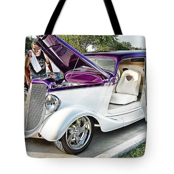 Tote Bag featuring the photograph Classic Auto   by Dyle   Warren