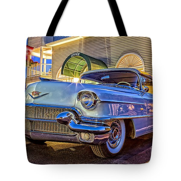 Classic Blue Caddy At Night Tote Bag by Edward Fielding