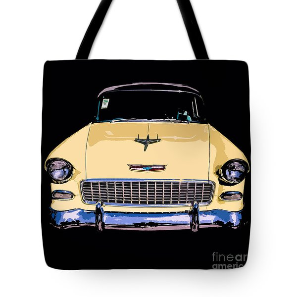 Classic Chevy Pop Art Tote Bag by Edward Fielding