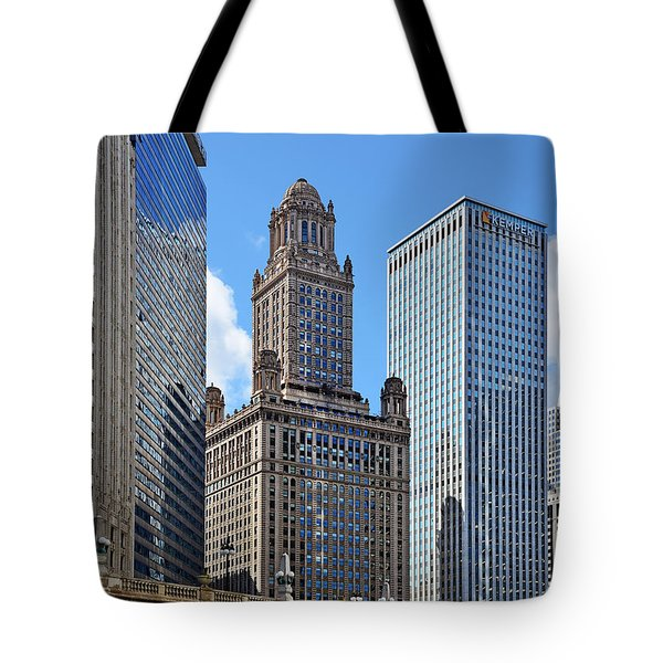 Classic Chicago -  The Jewelers Building Tote Bag by Christine Till
