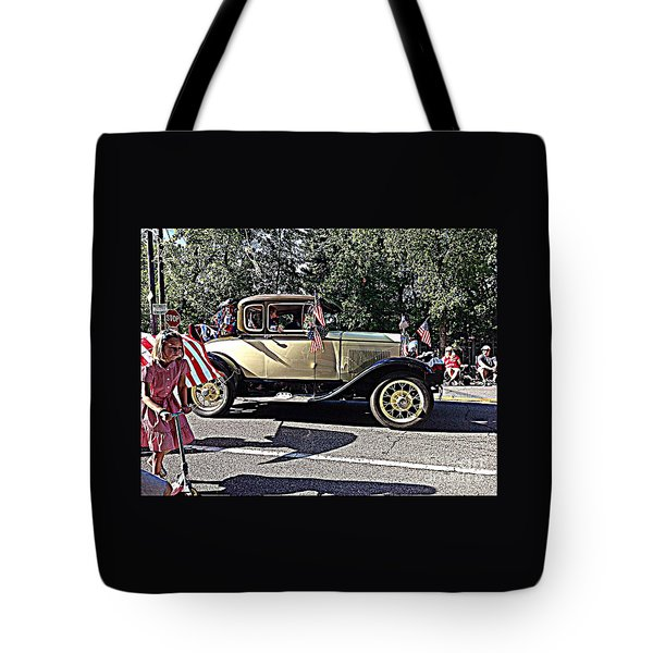 Classic Children's Parade Classic Car East Millcreek Utah 1 Tote Bag by Richard W Linford