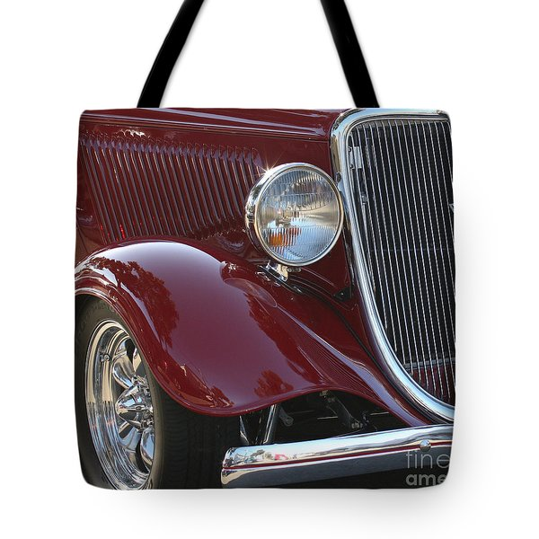 Classic Ford Car Tote Bag by Tap On Photo