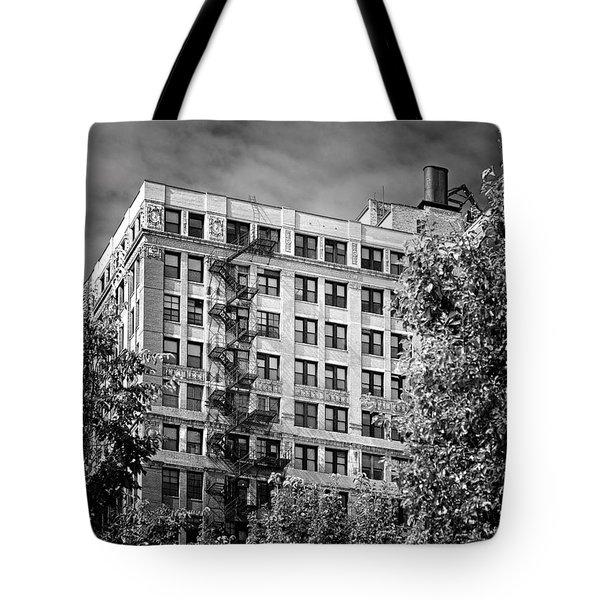 Classic Iron Fire Escape Chicago Il Tote Bag by Christine Till