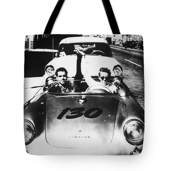 Classic James Dean Porsche Photo Tote Bag by Georgia Fowler