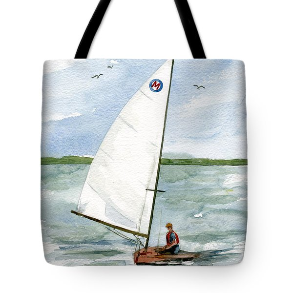 Tote Bag featuring the painting Classic Moth Boat by Nancy Patterson