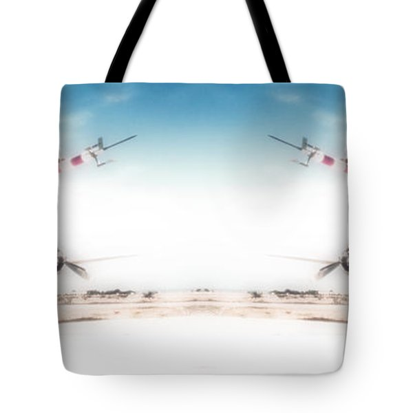 Tote Bag featuring the photograph Propeller Aircraft by R Muirhead Art