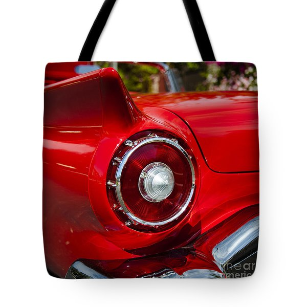Tote Bag featuring the photograph 1957 Ford Thunderbird Classic Car  by Jerry Cowart