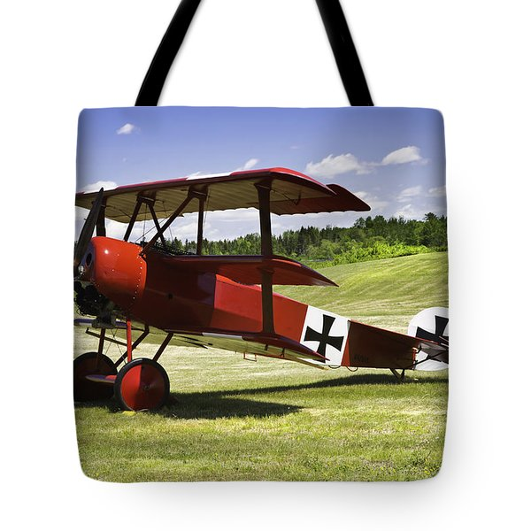 Classic Red Barron Fokker Dr.1 Triplane Photo Tote Bag