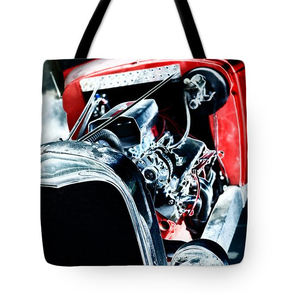 Tote Bag featuring the digital art Classic Red by Erika Weber