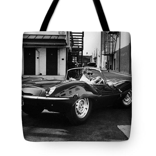 Classic Steve Mcqueen Photo Tote Bag