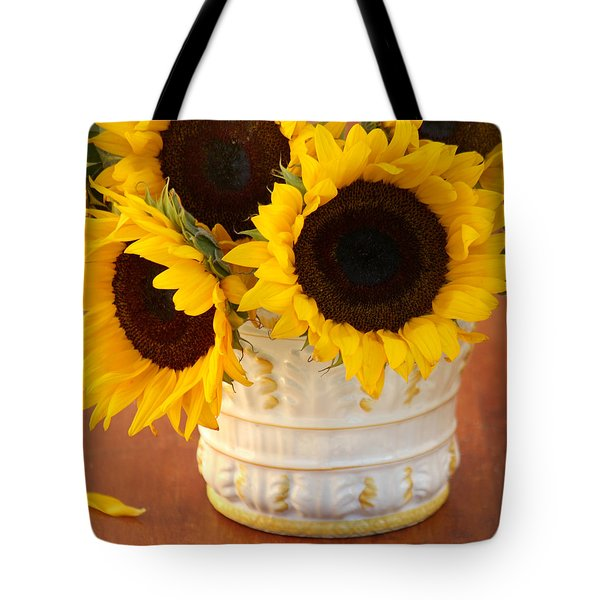 Classic Sunflowers Tote Bag by Art Block Collections