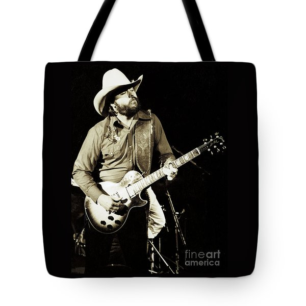 Classic Toy Caldwell Of The Marshall Tucker Band At The Cow Palace-new Years Concert  Tote Bag
