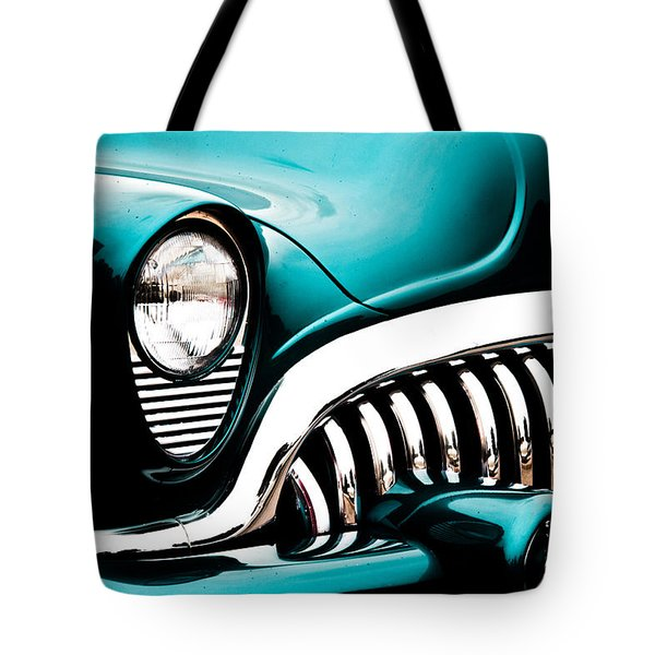Classic Turquoise Buick Tote Bag by Joann Copeland-Paul