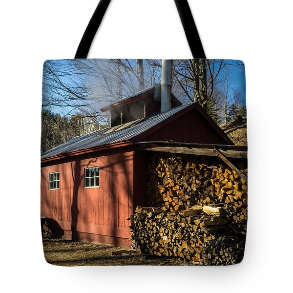 Classic Vermont Maple Sugar Shack Tote Bag by Edward Fielding