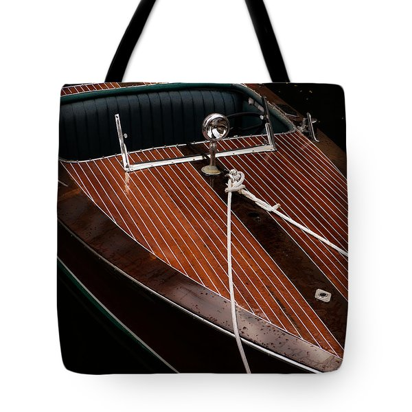 Classic Wooden Power Boat Tote Bag