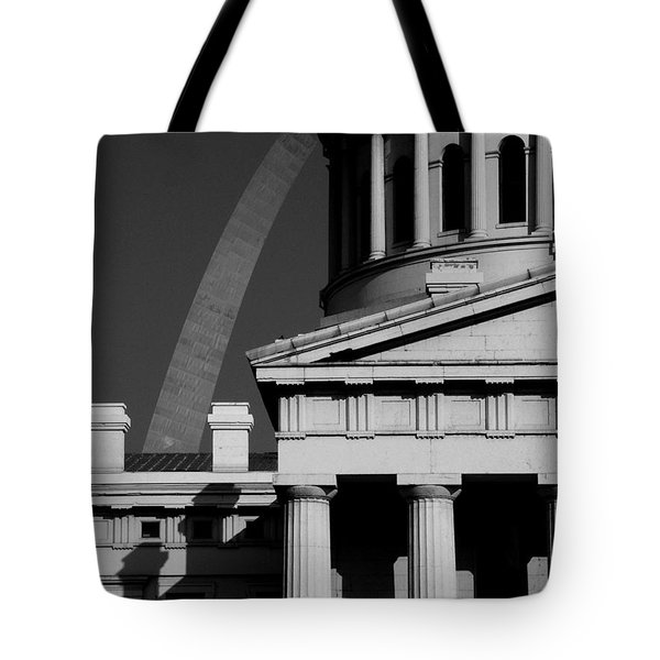 Classical Courthouse Arch Black White Tote Bag
