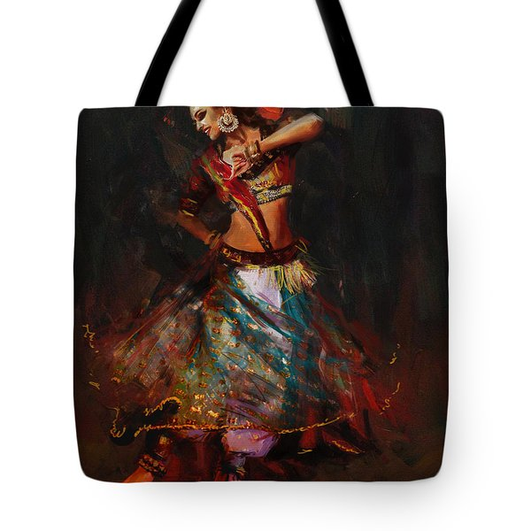 Classical Dance Art 15b Tote Bag
