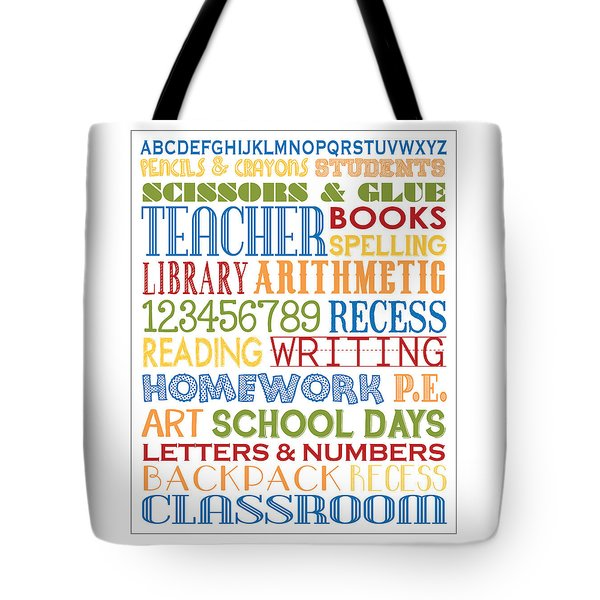 Tote Bag featuring the digital art Classroom Subway Art Poster by Jaime Friedman