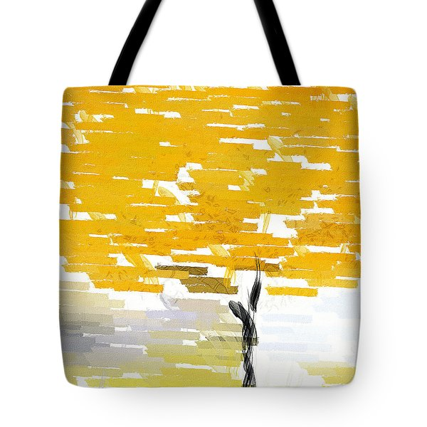 Classy Yellow Tree Tote Bag by Lourry Legarde