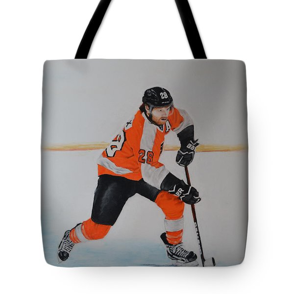 Claude Giroux Philadelphia Flyer Tote Bag