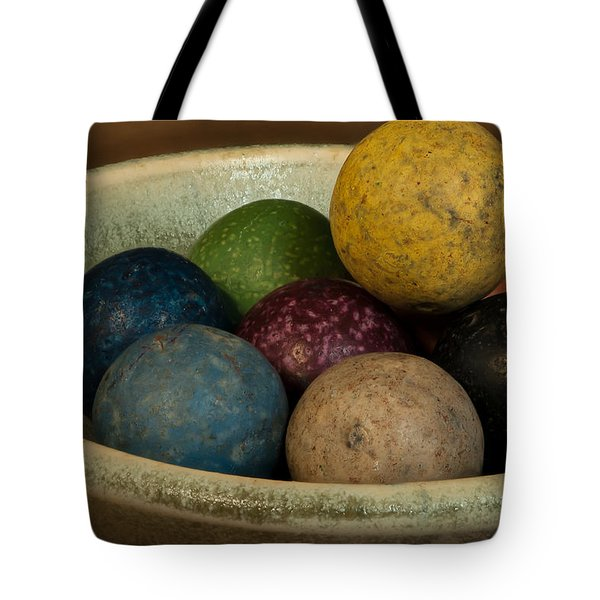 Clay Marbles In Bowl Tote Bag