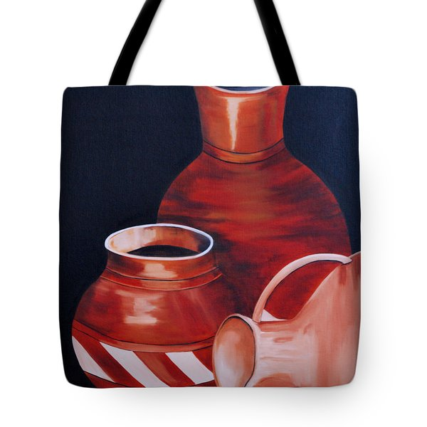 Clay Pots Tote Bag