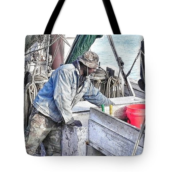 Cleaning Up After The Haul Tote Bag by Patricia Greer