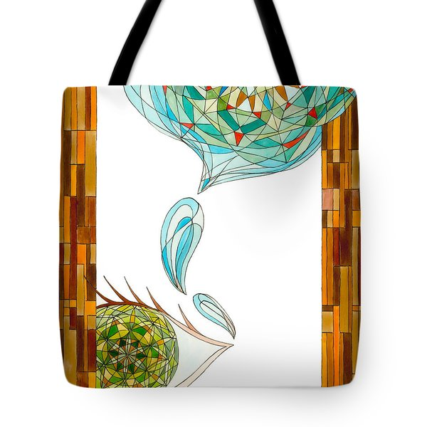 Tote Bag featuring the drawing Cleansing Tears by Dianne Levy