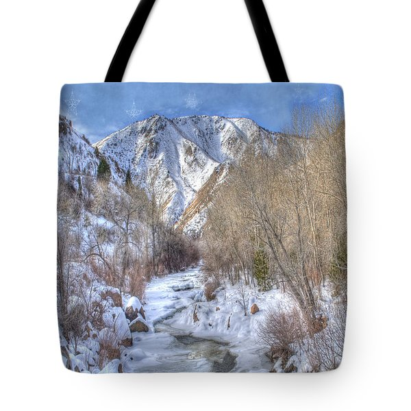 Clear Creek In The Winter Tote Bag