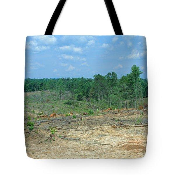 Clear Cutting In The Blue Ridge Tote Bag