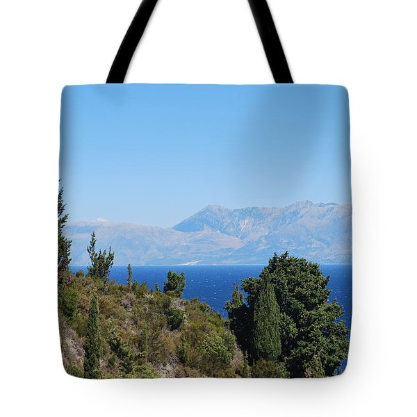 Tote Bag featuring the photograph Clear Day by George Katechis