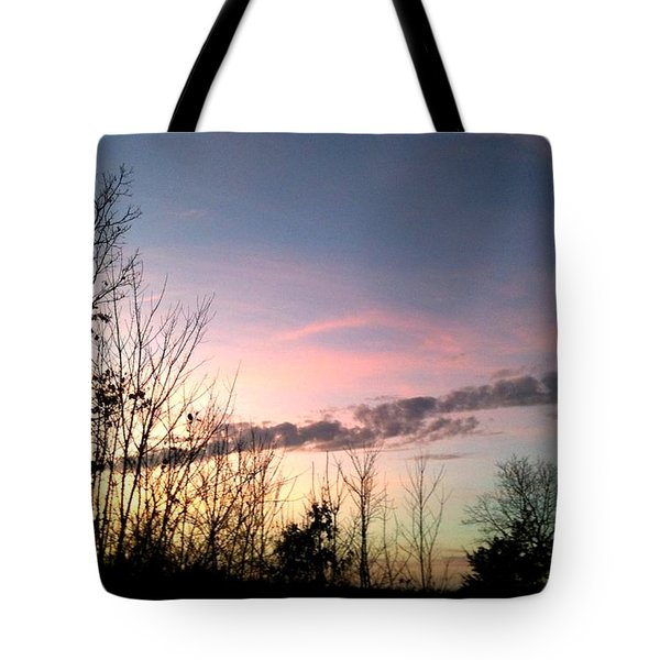Clear Evening Sky Tote Bag