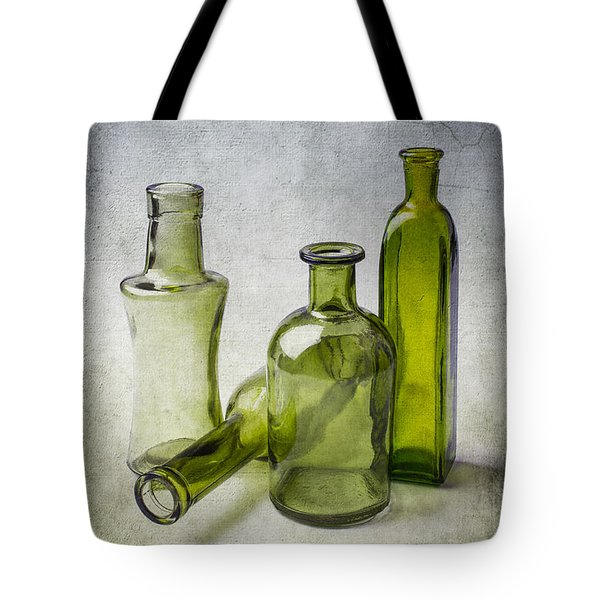 Clear Green Bottles Tote Bag