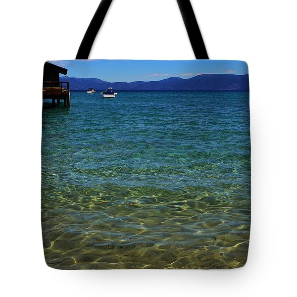 Clear Lake Tahoe Blue Tote Bag
