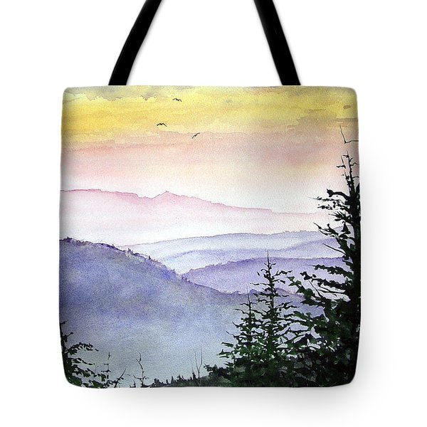 Clear Mountain Morning II Tote Bag